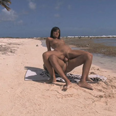 Black Angelika loves to fuck in bikini in public places